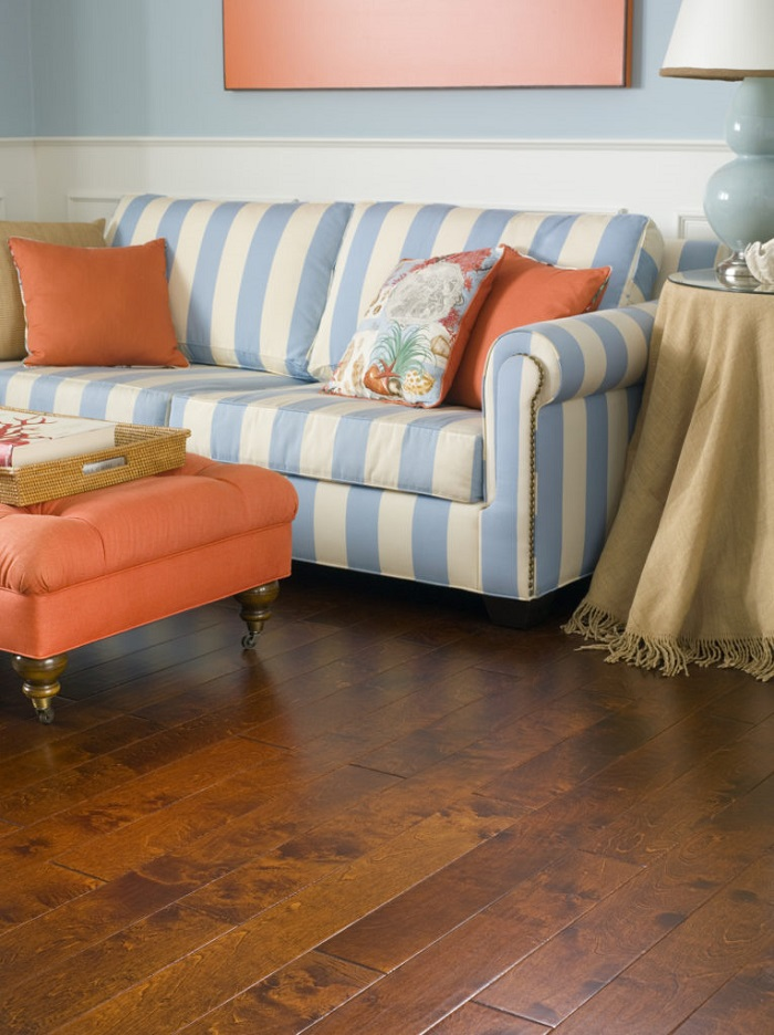 Damaged hardwood floors can be repaired. Our flooring professionals can fix almost any wood floor damage.